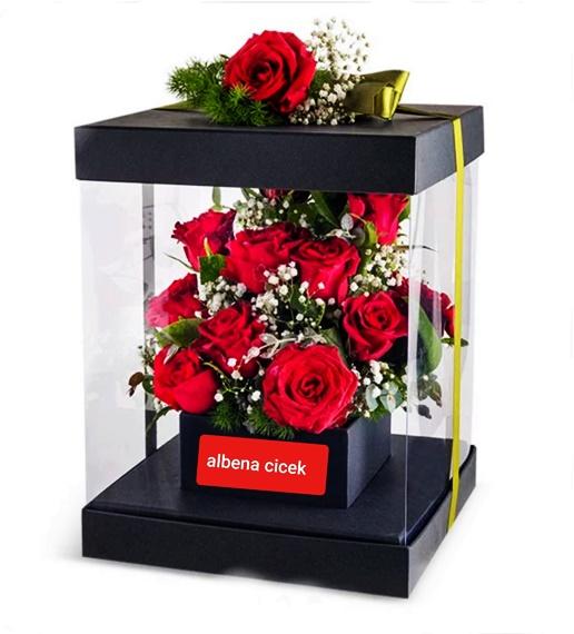 Hayat seninle güzel özel pvc kutuda güller