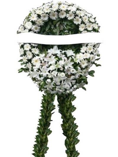 beyaz merasim cenaze çiçegi