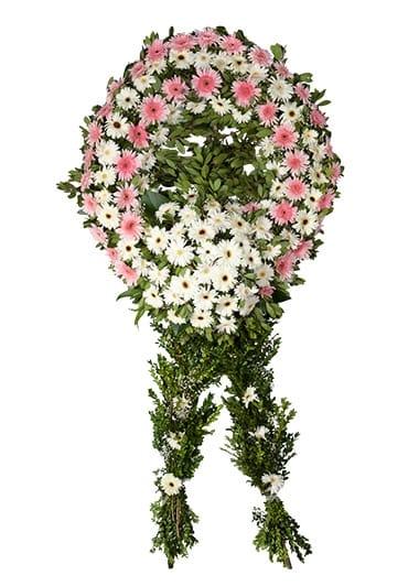 pembe beyaz cenaze merasim çiçegi