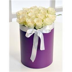 Kutuda beyaz gül çiçek arajmaný